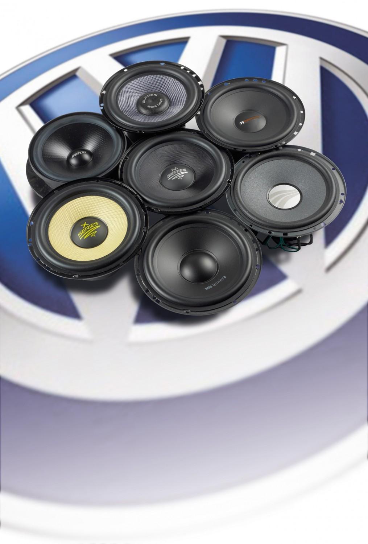Car-HiFi Lautsprecher fahrzeugspezifisch: 16er-Systeme passend für VW Golf VI/VII im Test, Bild 1