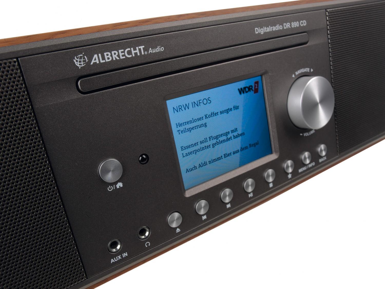 test dab radio albrecht dr 890 cd sehr gut. Black Bedroom Furniture Sets. Home Design Ideas