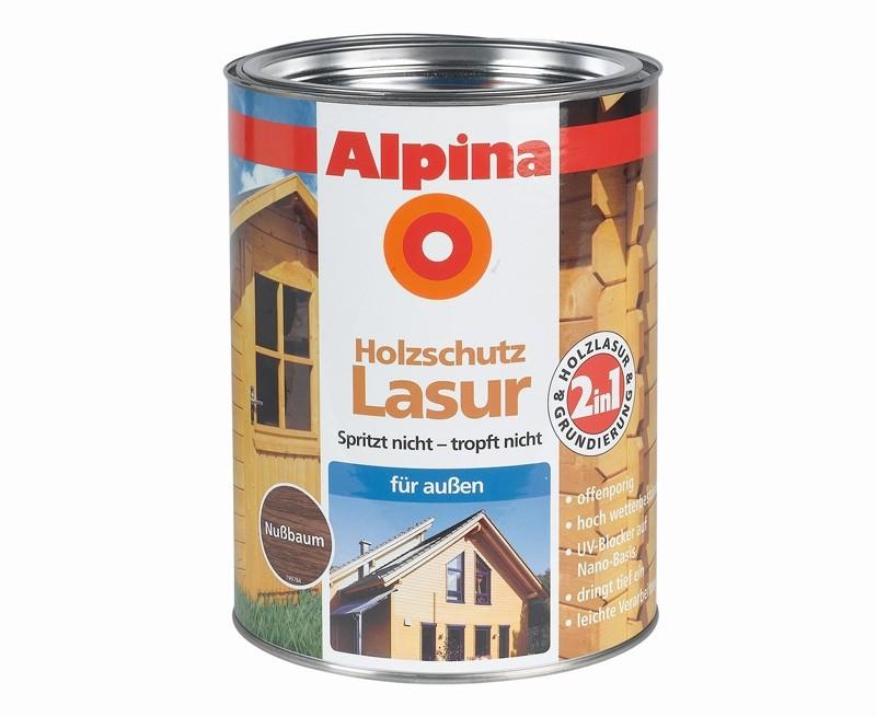 test lacke und lasuren alpina farben 2 in 1 lasur. Black Bedroom Furniture Sets. Home Design Ideas