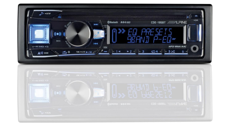 1-DIN-Autoradios Alpine CDE-195BT im Test, Bild 1