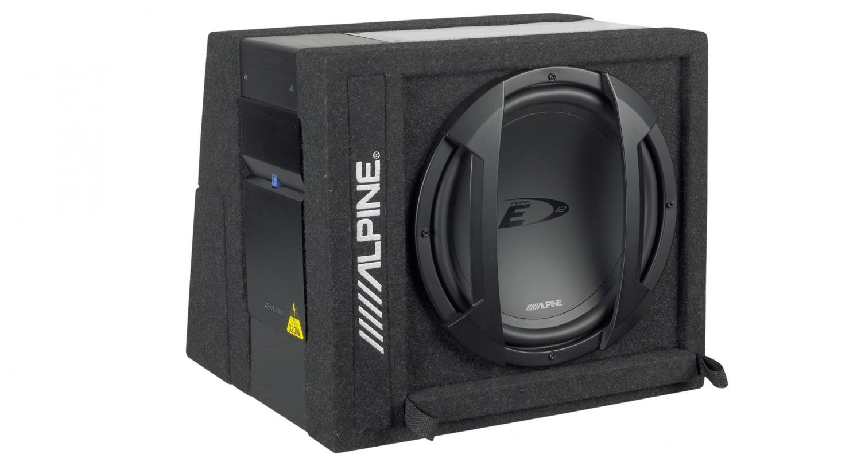 test car hifi subwoofer aktiv alpine swe 3200 sehr gut. Black Bedroom Furniture Sets. Home Design Ideas