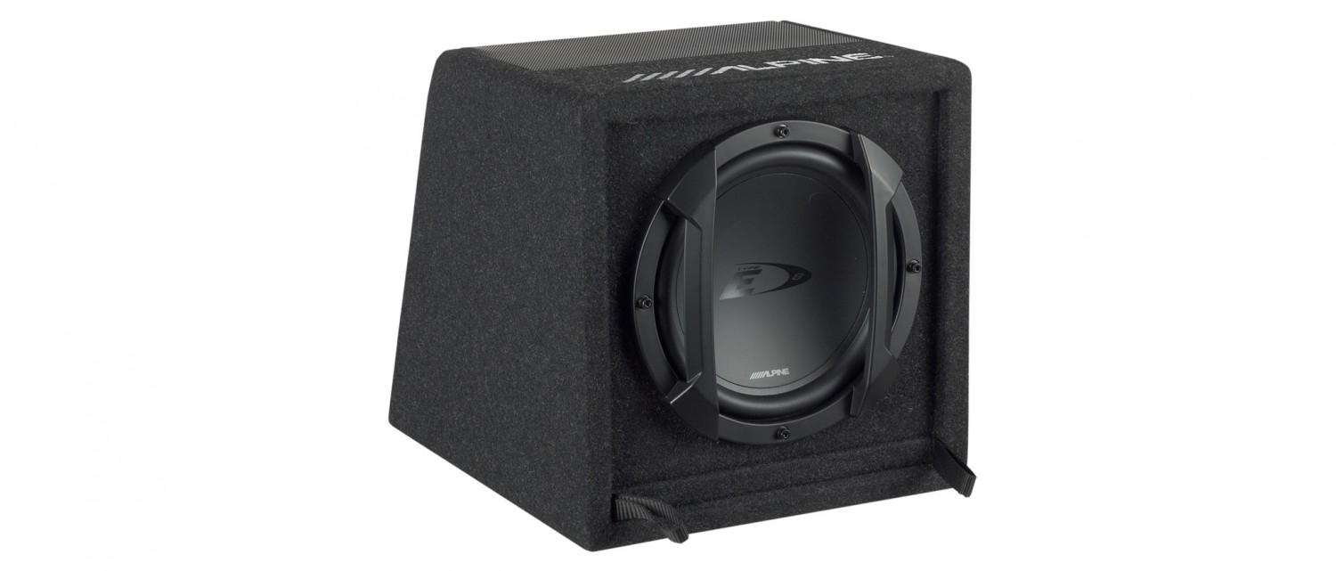 test car hifi subwoofer aktiv alpine swe 815 sehr gut. Black Bedroom Furniture Sets. Home Design Ideas