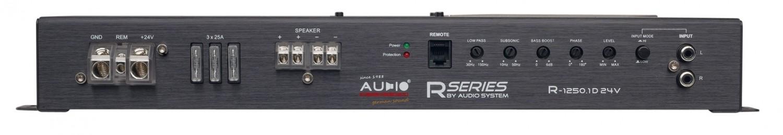 Car-HiFi Endstufe Mono Audio System R-1250.1 D 24V, Audio System R-110.4 24V im Test , Bild 5