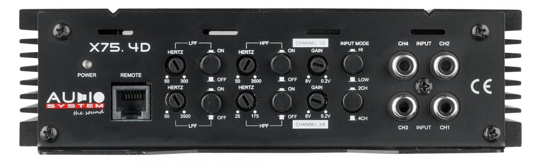 Car-HiFi Endstufe 4-Kanal Audio System X 75.4 D im Test, Bild 4