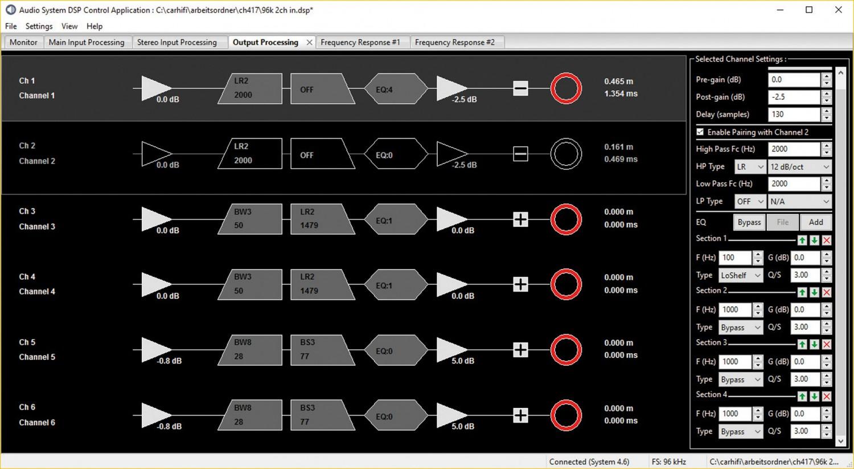 Car-HiFi Endstufe 4-Kanal Audio System X-80.4 DSP im Test, Bild 7