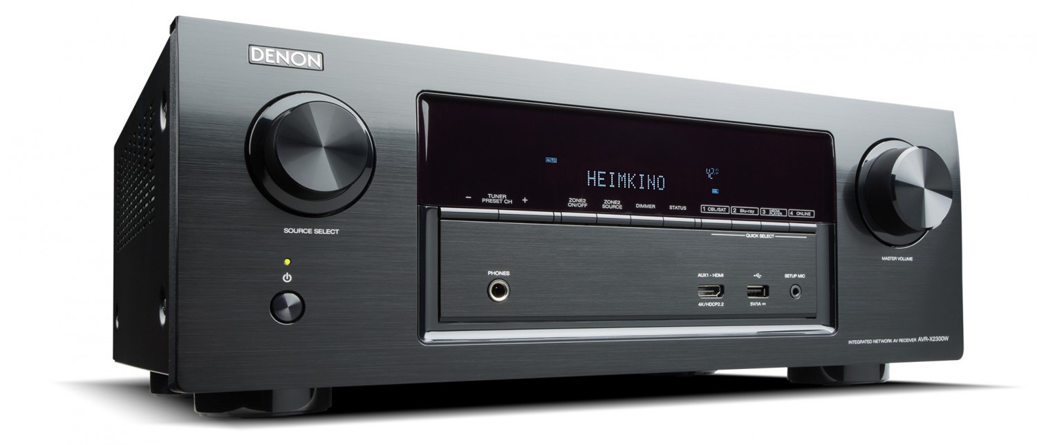 test av receiver denon avr x2300w sehr gut seite 1. Black Bedroom Furniture Sets. Home Design Ideas