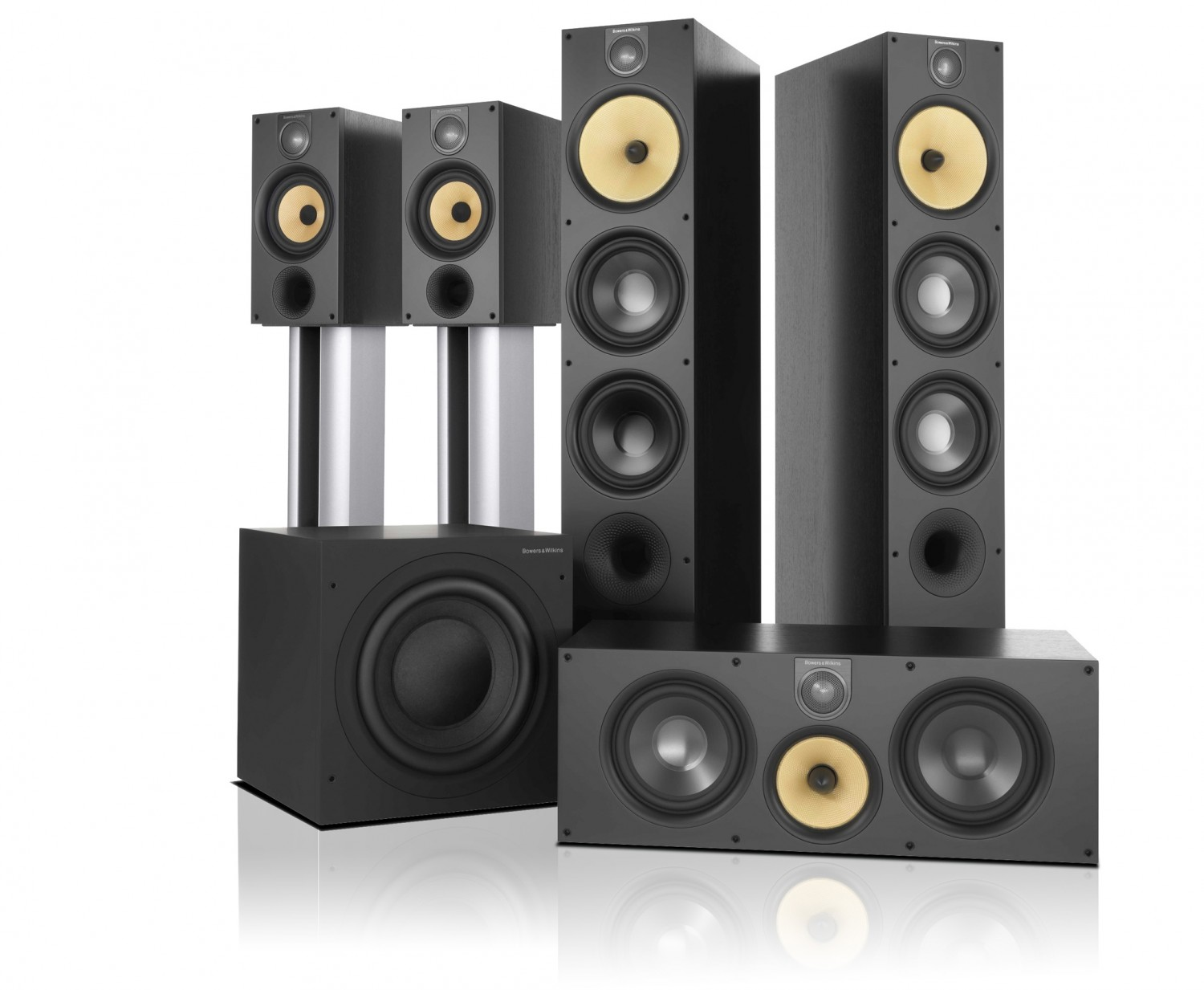 test lautsprecher surround b w bowers wilkins 600er. Black Bedroom Furniture Sets. Home Design Ideas