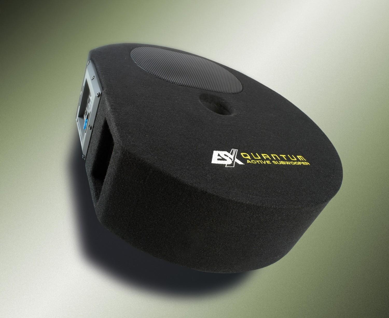 test car hifi subwoofer aktiv esx q300a sehr gut. Black Bedroom Furniture Sets. Home Design Ideas