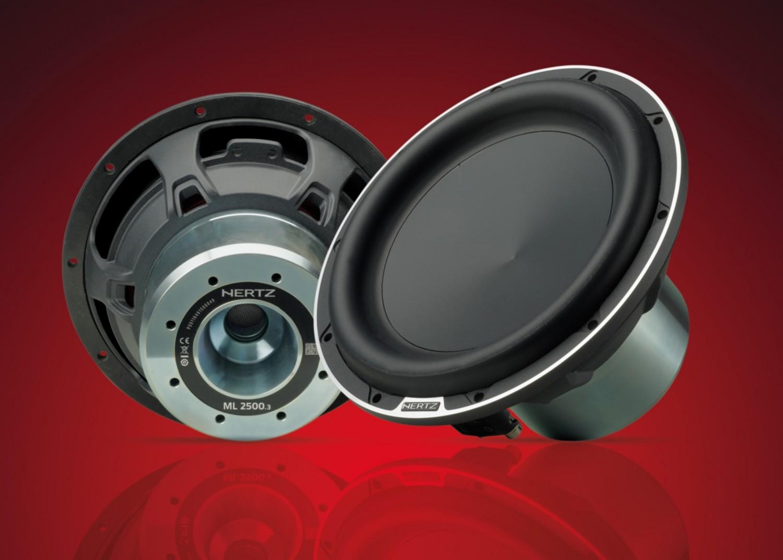 test car hifi subwoofer chassis hertz ml 2500 3 sehr. Black Bedroom Furniture Sets. Home Design Ideas