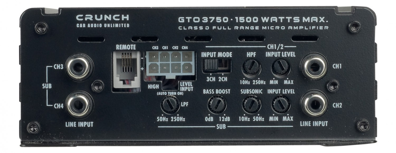Car-HiFi Endstufe Mono Crunch GTO1750, Crunch GTO3750, Crunch GTO4125 im Test , Bild 4