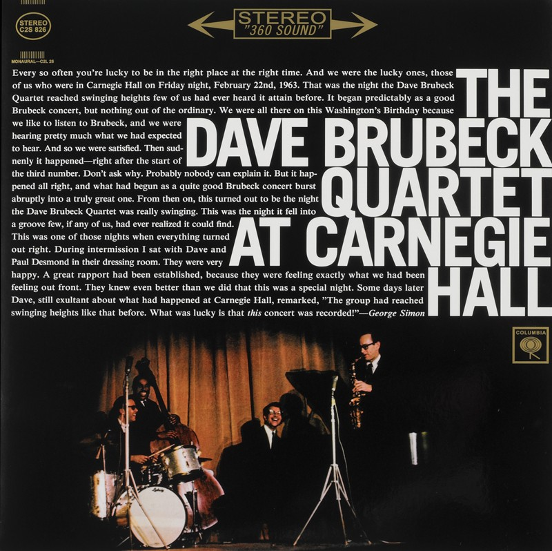 Schallplatte Dave Brubeck Quartet – At Carnegie Hall (Columbia / Speakers Corner) im Test, Bild 1