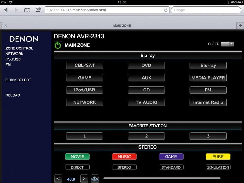 AV-Receiver Denon AVR-2313 im Test, Bild 2