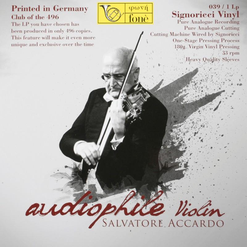 Schallplatte Diverse: Audiophile Violin Salvatore Accardo (Fonè) im Test, Bild 1