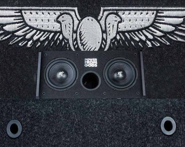 test car hifi subwoofer aktiv hifonics hfi202a sehr. Black Bedroom Furniture Sets. Home Design Ideas