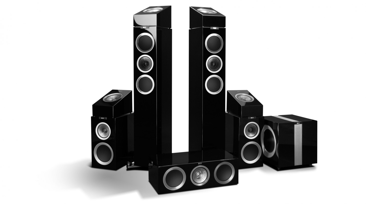 test lautsprecher surround kef r 500 5 4 1 atmos set. Black Bedroom Furniture Sets. Home Design Ideas