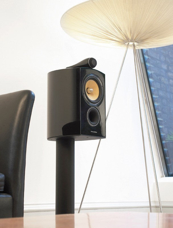 test lautsprecher stereo b w bowers wilkins 805. Black Bedroom Furniture Sets. Home Design Ideas