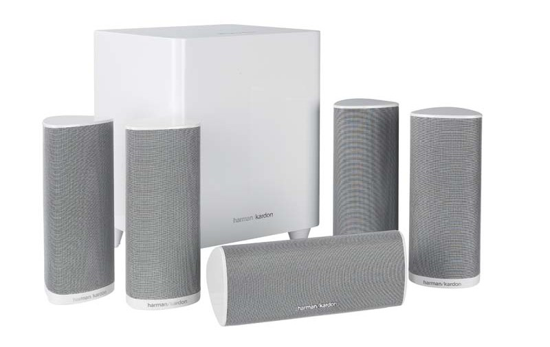 test lautsprecher surround harman kardon hkts16 sehr gut. Black Bedroom Furniture Sets. Home Design Ideas