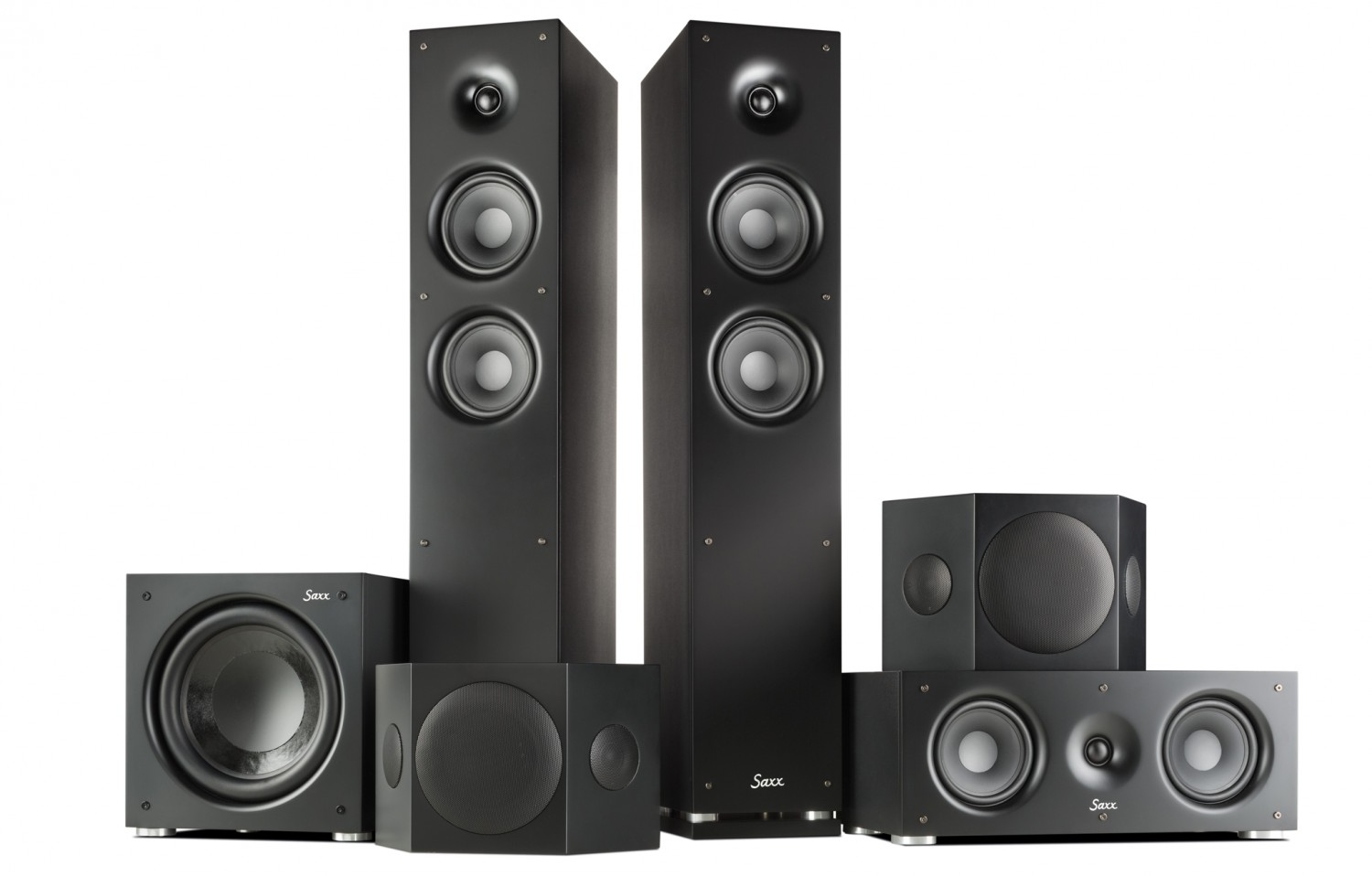 test lautsprecher surround saxxtec clear sound 5 1 set. Black Bedroom Furniture Sets. Home Design Ideas