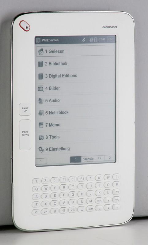 test e book reader hanvon wisereader n526 sehr gut. Black Bedroom Furniture Sets. Home Design Ideas