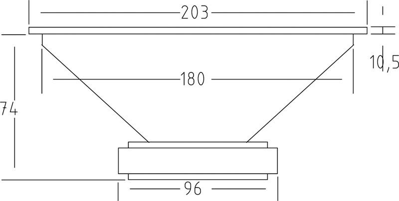 Lautsprecherchassis Breitbänder Monacor SPX-200WP im Test, Bild 8
