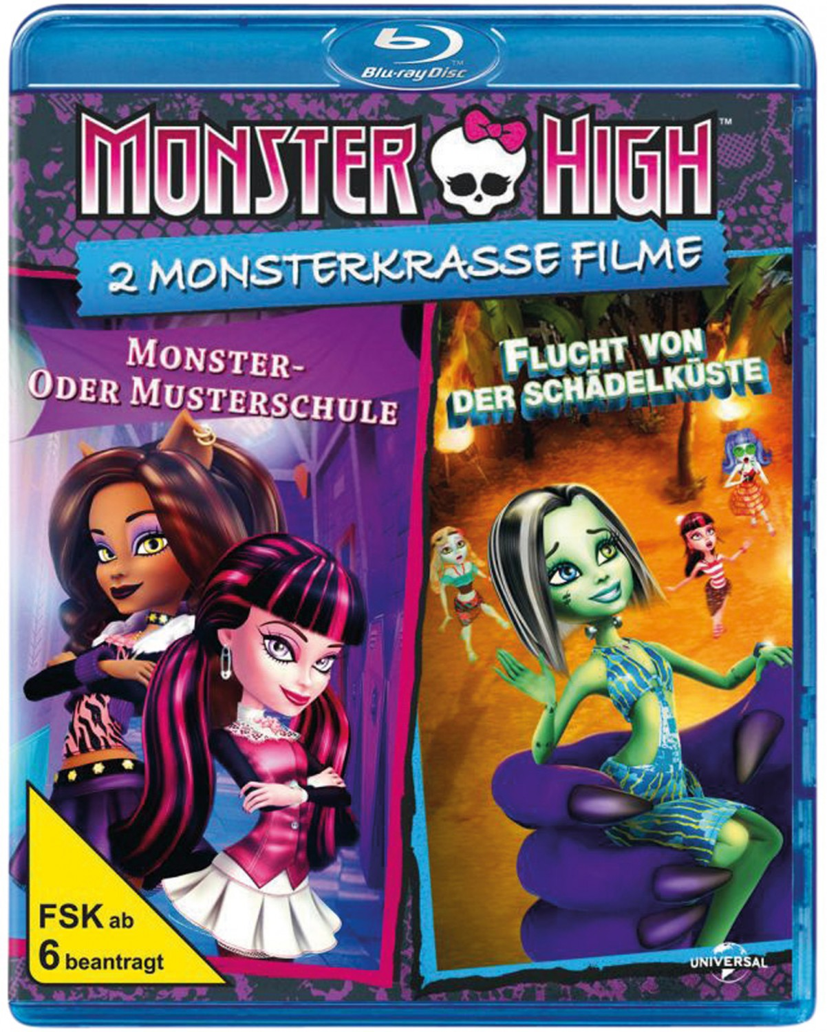 Blu-ray Film Monster High – 2 monsterkrasse Filme (Universal) im Test, Bild 1