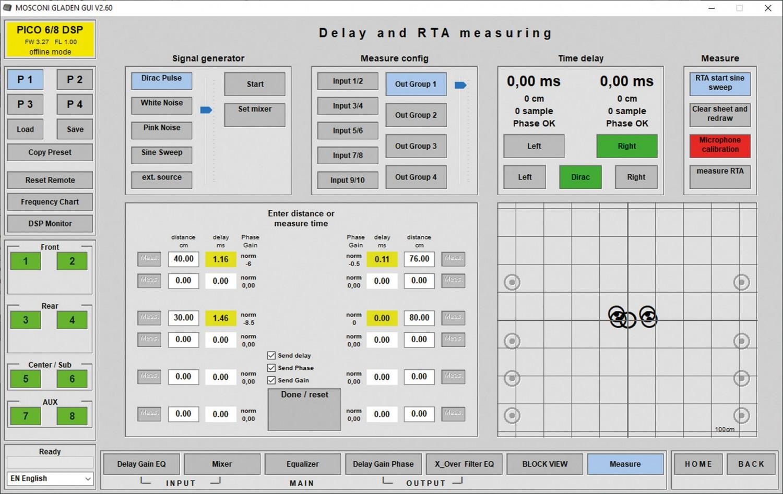 Car HiFi Endstufe Multikanal Mosconi Gladen PICO 6/8 DSP im Test, Bild 7