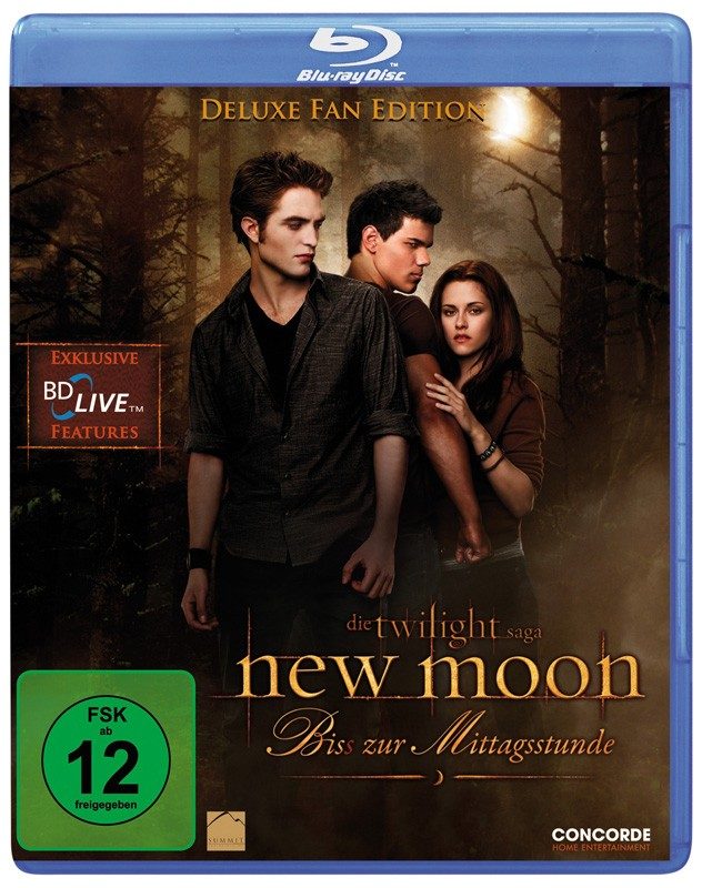 Blu-ray Film New Moon – Bis(s) zur Mittagsstunde (Concorde Video) im Test, Bild 1