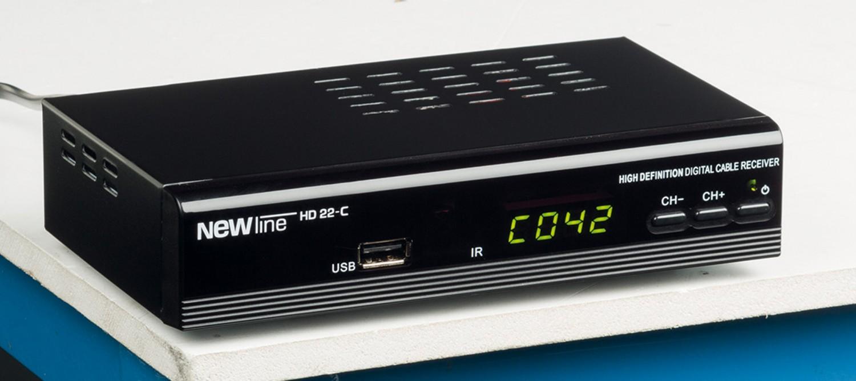 Sat Receiver mit Festplatte Newline HD 22-C im Test, Bild 1
