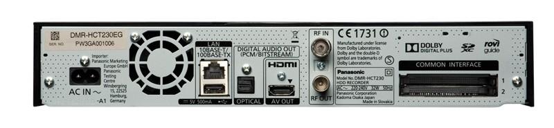 HDTV-Settop-Box Panasonic DMR-HCT230 im Test, Bild 2