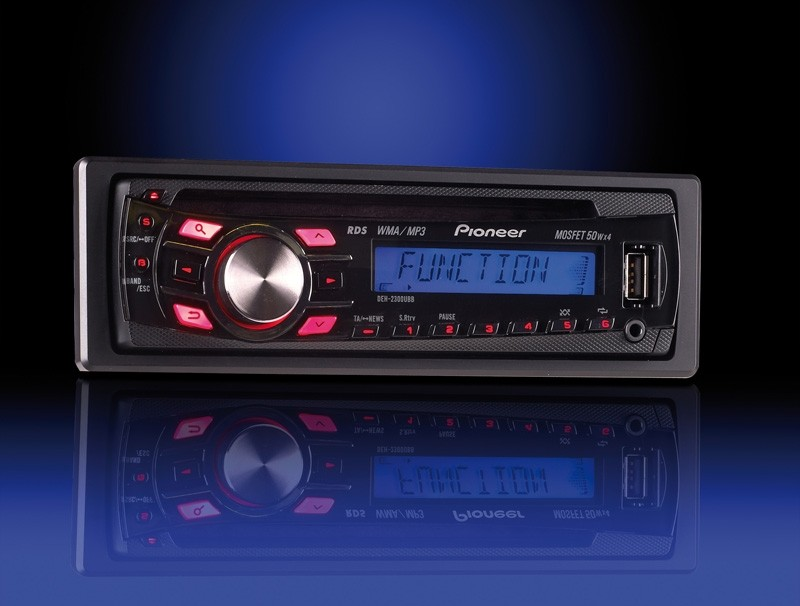 1-DIN-Autoradios Pioneer DEH-P2300UB, Pioneer DEH-P2300UBB, Pioneer DEH-P2320UB im Test , Bild 1