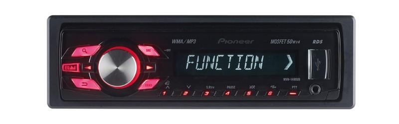 1-DIN-Autoradios Pioneer MVH-1400UB, Pioneer DEH-4400BT im Test , Bild 1