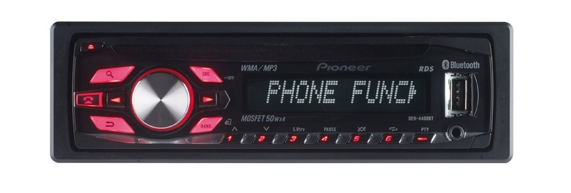 1-DIN-Autoradios Pioneer MVH-1400UB, Pioneer DEH-4400BT im Test , Bild 2