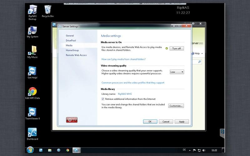 DLNA- / Netzwerk- Clients / Server / Player Ripnas Solid V3 im Test, Bild 4