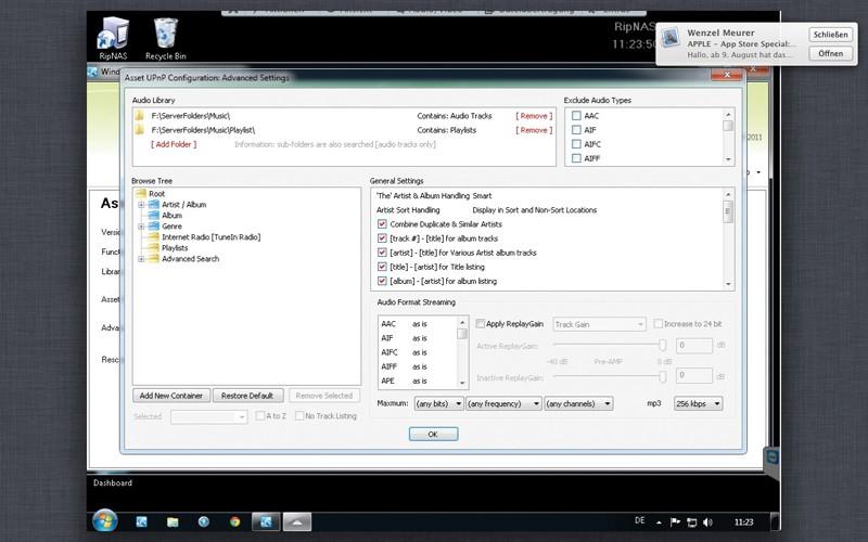 DLNA- / Netzwerk- Clients / Server / Player Ripnas Solid V3 im Test, Bild 7