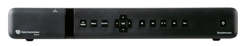 Kabel Receiver mit Festplatte Sagemcom RCI88-320KDG im Test, Bild 1
