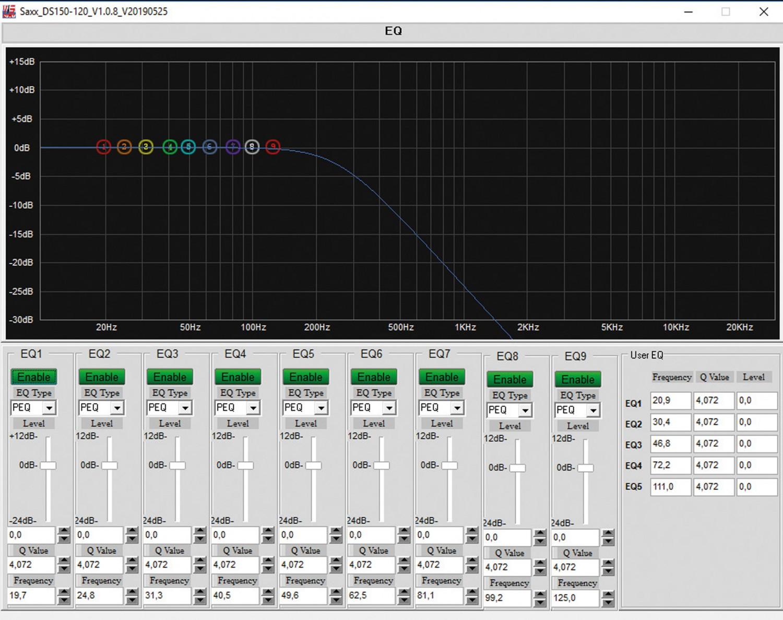 Subwoofer (Home) Saxx deepSound DS 120 DSP im Test, Bild 2