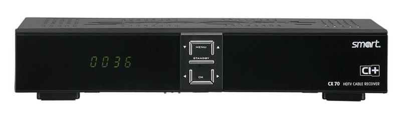 Kabel Receiver ohne Festplatte Smart CX 70 im Test, Bild 1