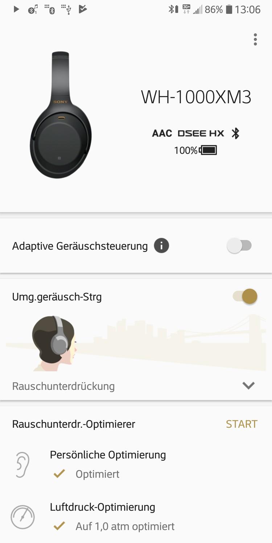 Kopfhörer Noise Cancelling Sony WH-1000XM3 im Test, Bild 5