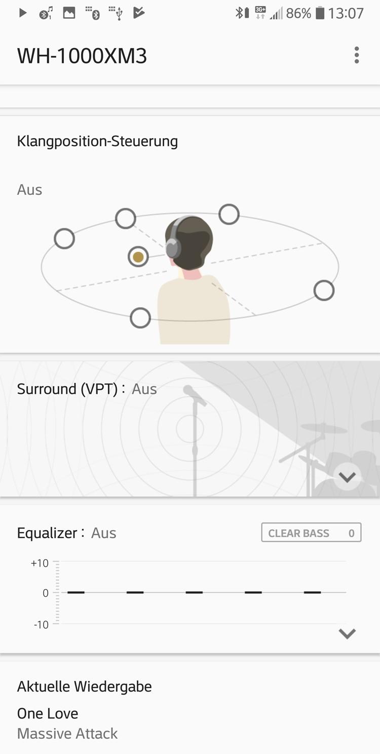 Kopfhörer Noise Cancelling Sony WH-1000XM3 im Test, Bild 6