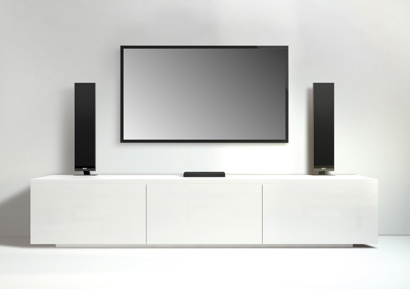test tv soundsystem kef v300 sehr gut seite 1. Black Bedroom Furniture Sets. Home Design Ideas
