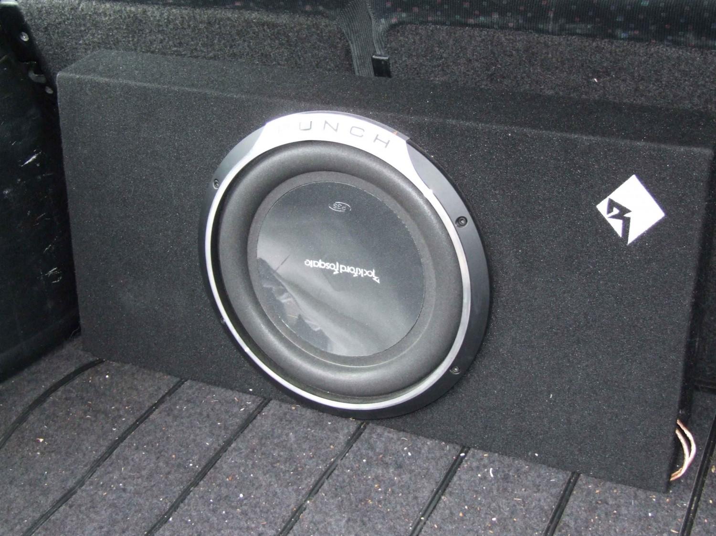 test car hifi subwoofer geh use rockford p3l s12 gut. Black Bedroom Furniture Sets. Home Design Ideas