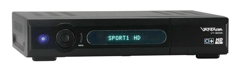 test sat receiver ohne festplatte vantage vt 600s sehr gut. Black Bedroom Furniture Sets. Home Design Ideas