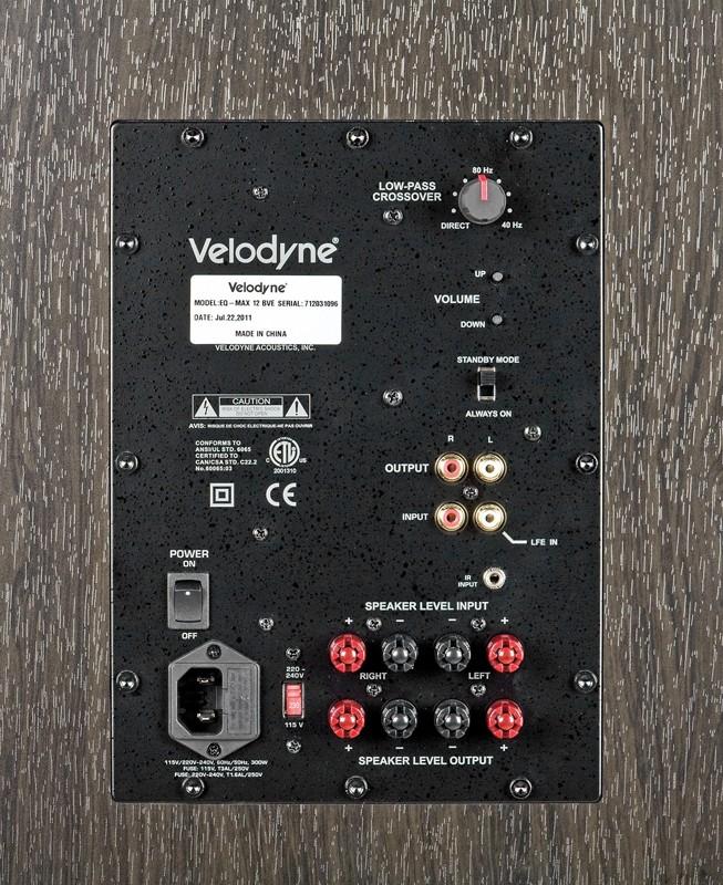 Subwoofer (Home) Velodyne EQ-Max8, Velodyne EQ-Max10, Velodyne EQ-Max12 im Test , Bild 4