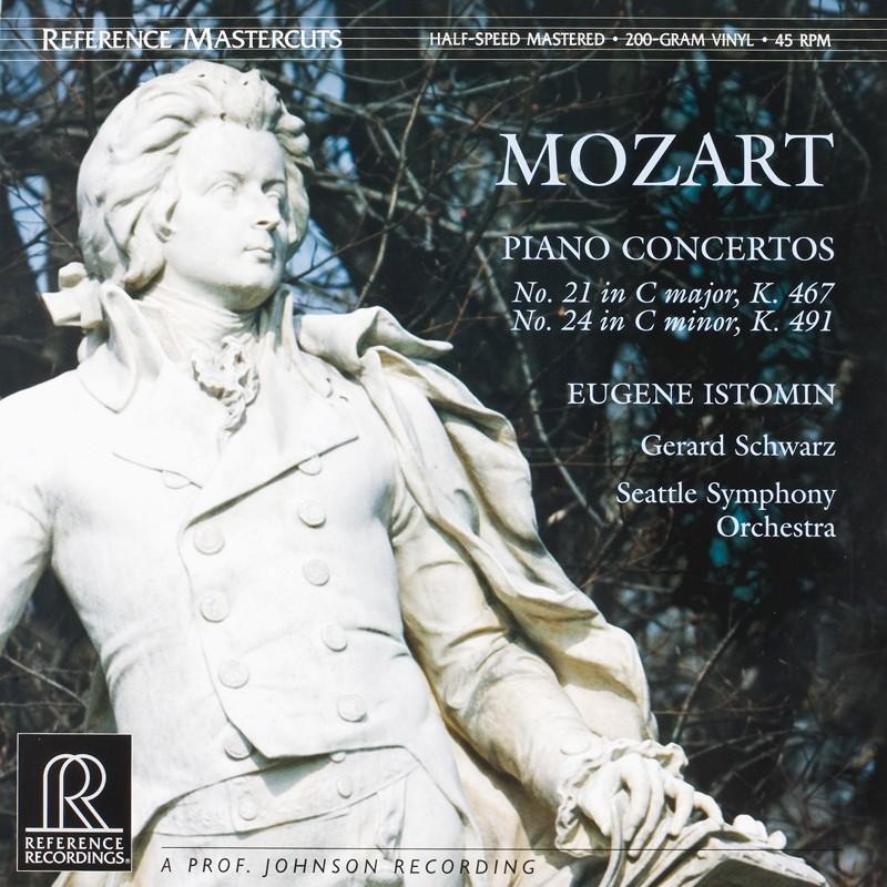 Schallplatte Wolfgang Amadeus Mozart – Klavierkonzerte Nr. 21 C-Dur und 24 C-moll Eugene Istomin, Seattle Symphony Orchestra, Gerard Schwarz (Reference Recordings) im Test, Bild 1