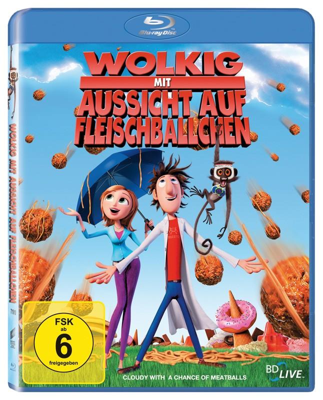 Blu-ray Film Wolkig, mit Aussicht auf Fleischbällchen 2D (Sony Pictures) im Test, Bild 1