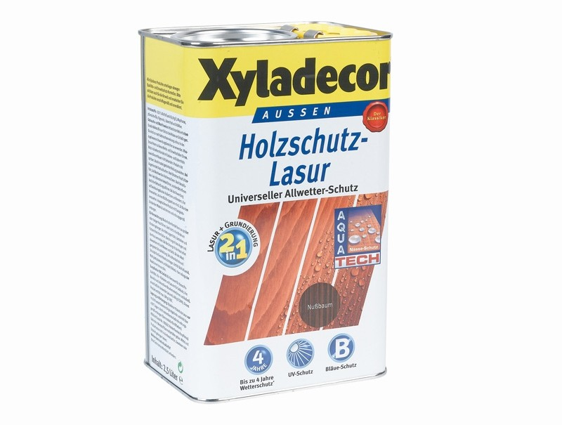 test lacke und lasuren xyladecor 2 in 1 holzschutzlasur befriedigend. Black Bedroom Furniture Sets. Home Design Ideas