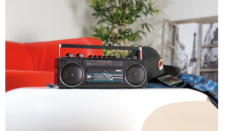Portable- und Outdoor-Soundsysteme Auvisio Retro-Boombox im Test, Bild 1
