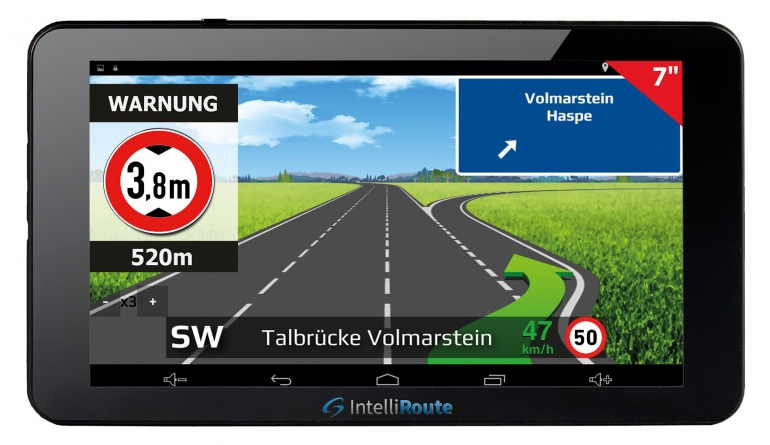 Portable Navigationssysteme IntelliRoute TR8050 DVR im Test, Bild 1