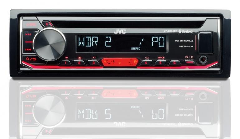 1-DIN-Autoradios JVC KD-R792BT im Test, Bild 1