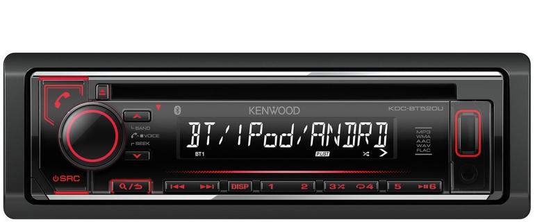 1-DIN-Autoradios Kenwood KDC-BT520U im Test, Bild 1